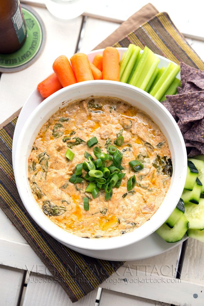 Buffalo Jackfruit Spinach Dip | Vegan Yack Attack