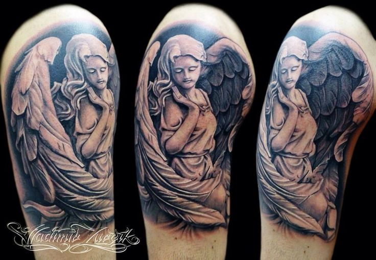 Angel statue | Tattoos | Pinterest | Angel statues and Tattoo