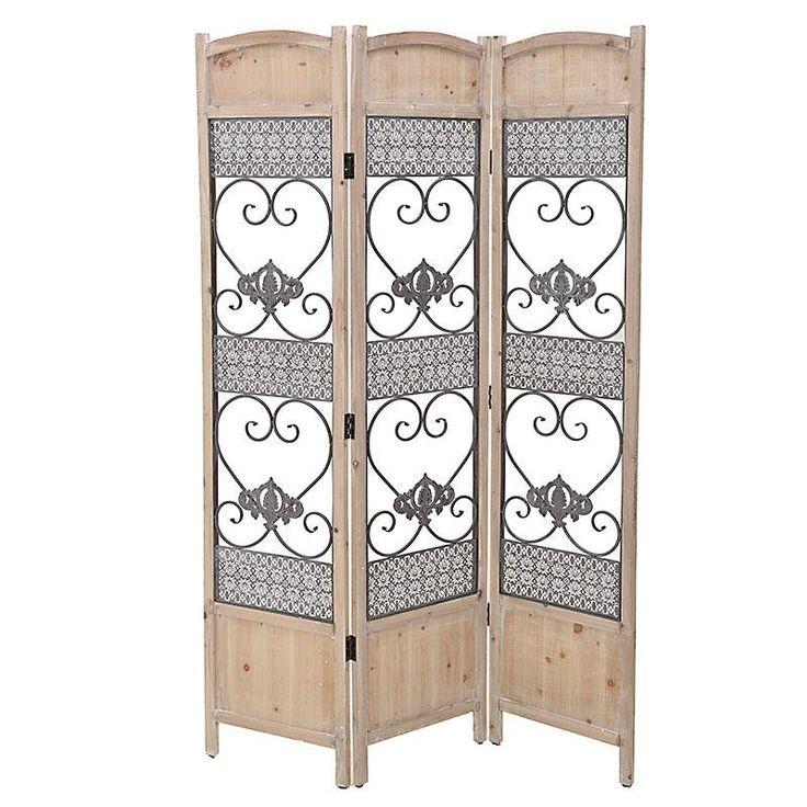 Дървен параван с метални орнаменти / #декорация #декорациянадома