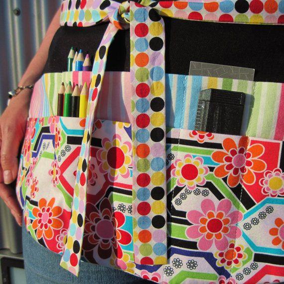 Teacher Apron Colorful Modern Asian Girl Ten Pocket por Foodphyte
