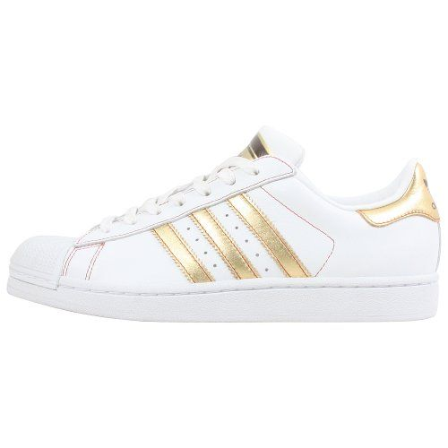 Adidas Men Superstar Ii White/gold/red Fashion sneaker 10.5 D M US adidas  http