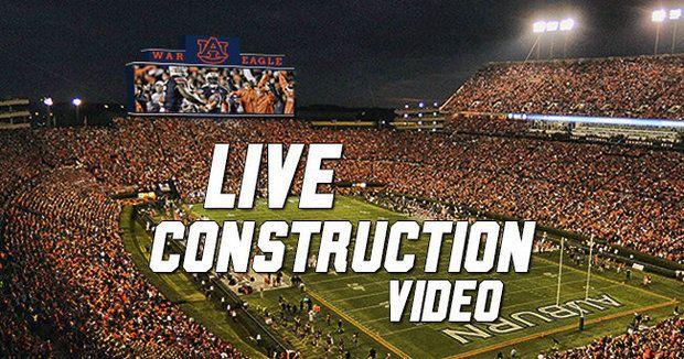 Live stream: Watch Auburn install college football's largest video scoreboard