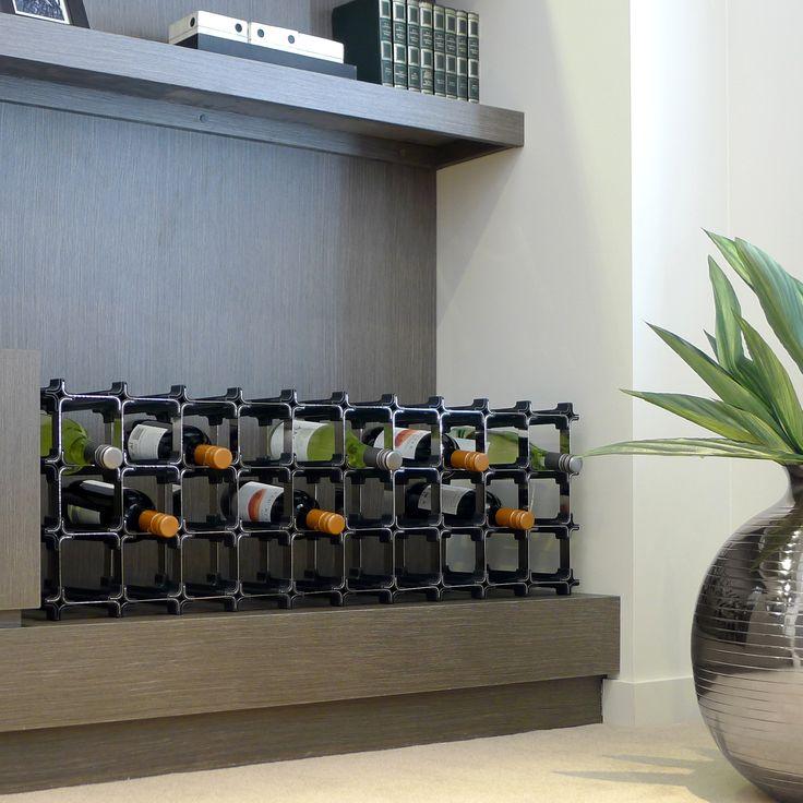 Modulares NOOK Weinregal - egal ob für die Küche, das Wohnzimmer oder versteckt in einer Nische - das NOOK Weinregal passt sich überall an.