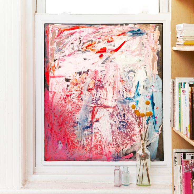 Cool idea for fresh and ever changing window coverings... just let your kid have at it with the paints!