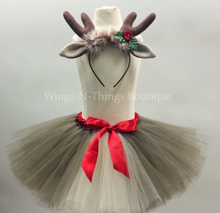 ADULT REINDEER Tutu Skirt Set w/ Antler Headband, Women's Christmas Costume, Photo Prop, Rudolph, Deer, Holiday Party, Teen, Adult, Woman by wingsnthings13 on Etsy https://www.etsy.com/listing/254865630/adult-reindeer-tutu-skirt-set-w-antler