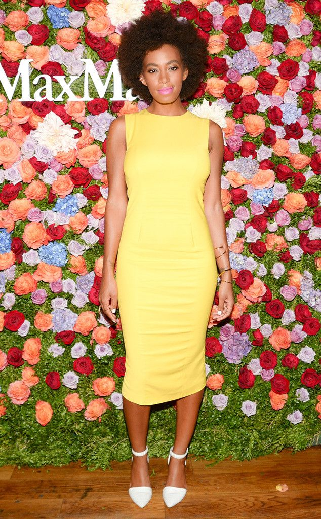 Sunny Shift from Solange Knowles' Best Looks  In Sportmax.