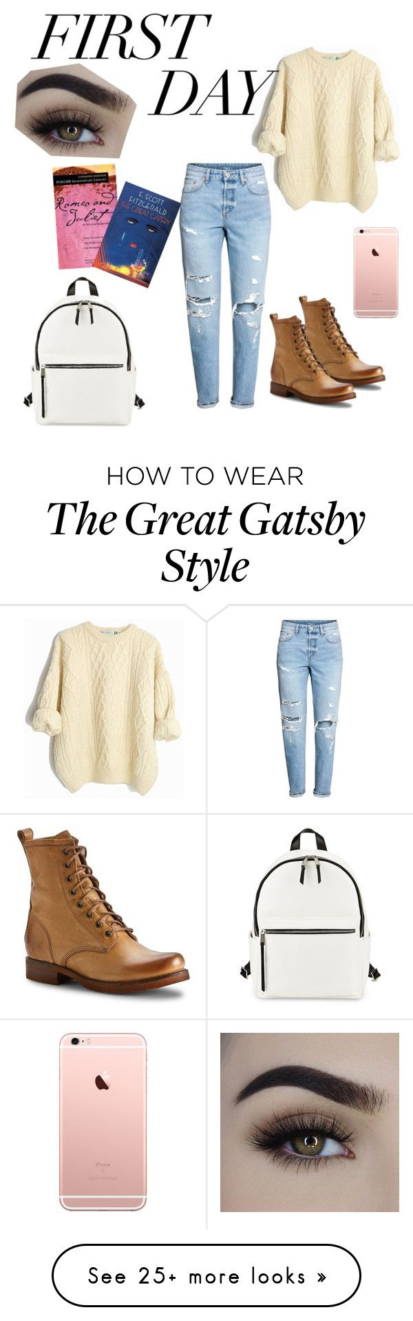 """Untitled #102"" by beckyneedstostop on Polyvore featuring H&M, French Connection and Frye"