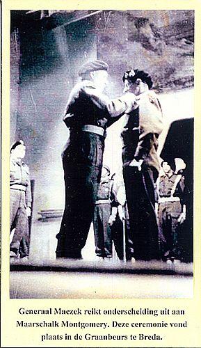 Generaal Stanislaw Maczek with Montgomery.