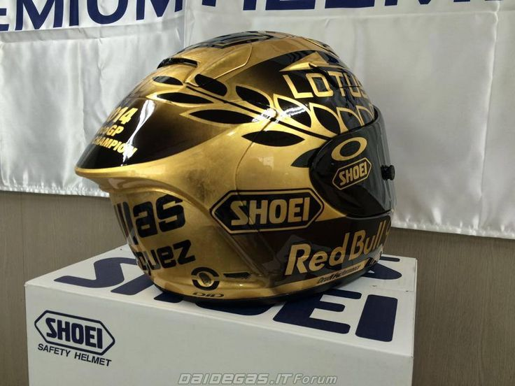 Daidegas The Gold Shoei Of Marc Marquez Http Www