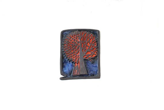 Funky vintage mid century 60s Wall hanging Plaque / Tile /