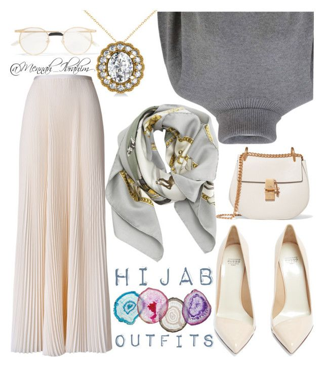 #Hijab_outfits #modesty #Simplicity by mennah-ibrahim on Polyvore featuring polyvore мода style Dolce&Gabbana Esme Vie Francesco Russo Chloé Allurez Hermès Gucci fashion clothing