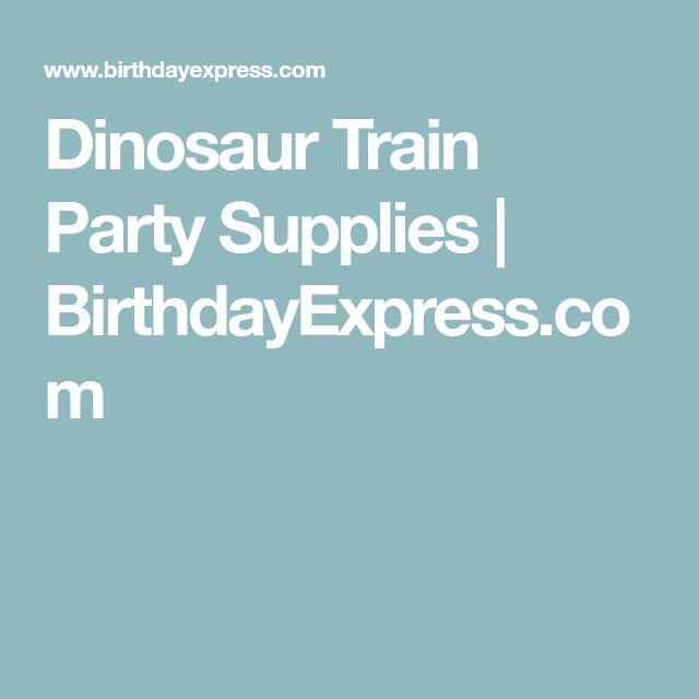 Dinosaur Train Party Supplies | BirthdayExpress.com