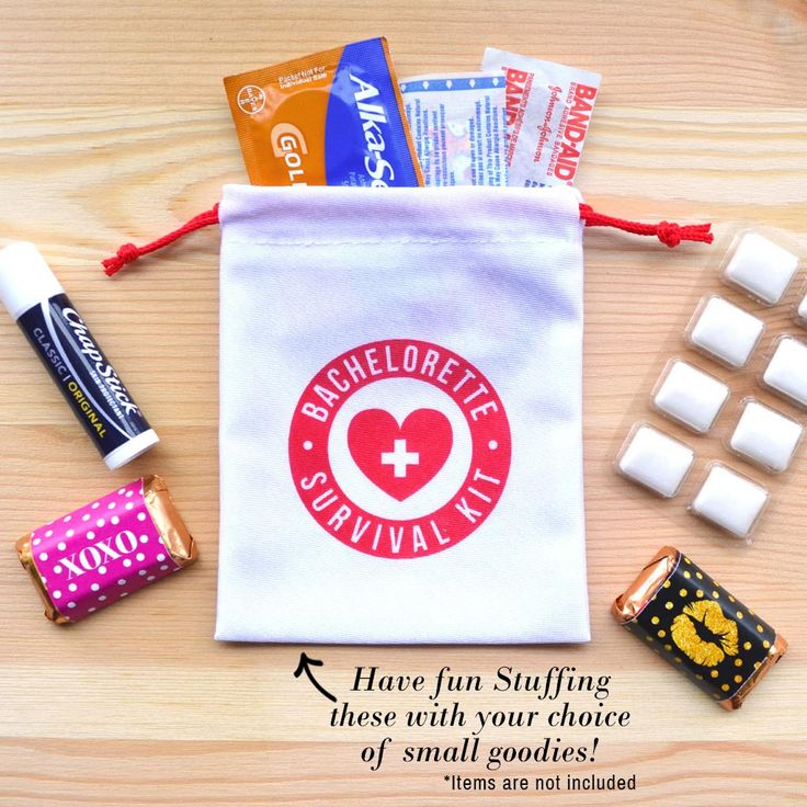 #Bachelorette Party Favor, #SurvivalKit, Bachelorette Survival Kit, Bachelorette Favor, Team Bride,  4 x 5 favor bags