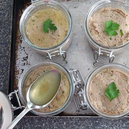 spiced duck rillettes