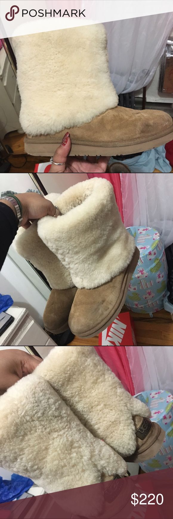 Ugg Australia boots with fur Used Ugg boots (offers accepted) - NO RETURNS UGG Shoes Winter & Rain Boots