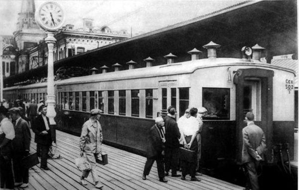 Первая подмосковная электричка, 1929 год, Москва