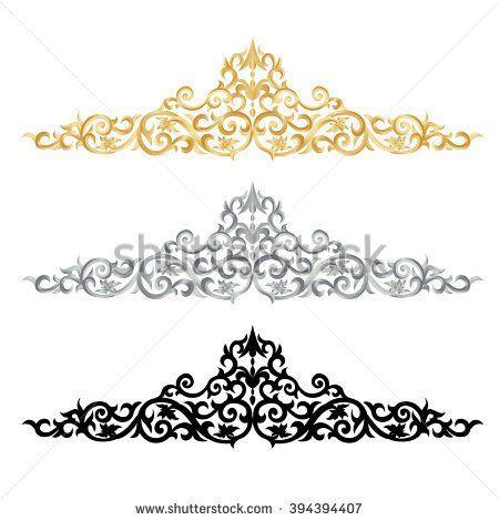 corner gold vintage baroque frame scroll ornament