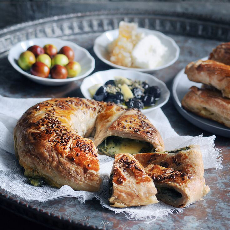 Cheese and fresh herbs pastry