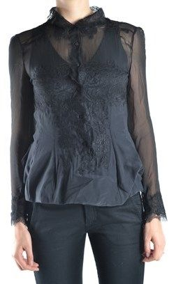 Ermanno Scervino Women's Black Silk Blouse.