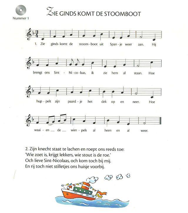 Zie ginds komt de stoomboot - Sinterklaasliedje