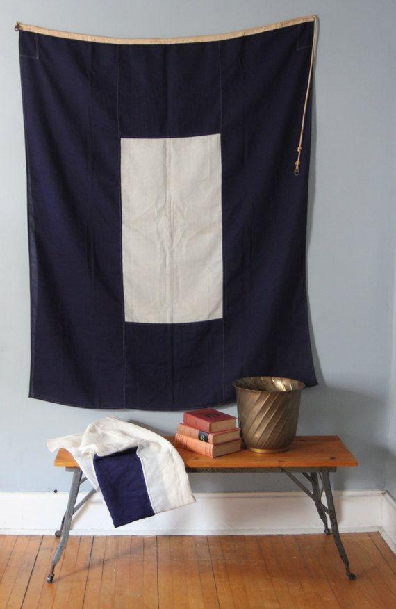 Vintage Nautical Signal Flag. $120.00, via Etsy.