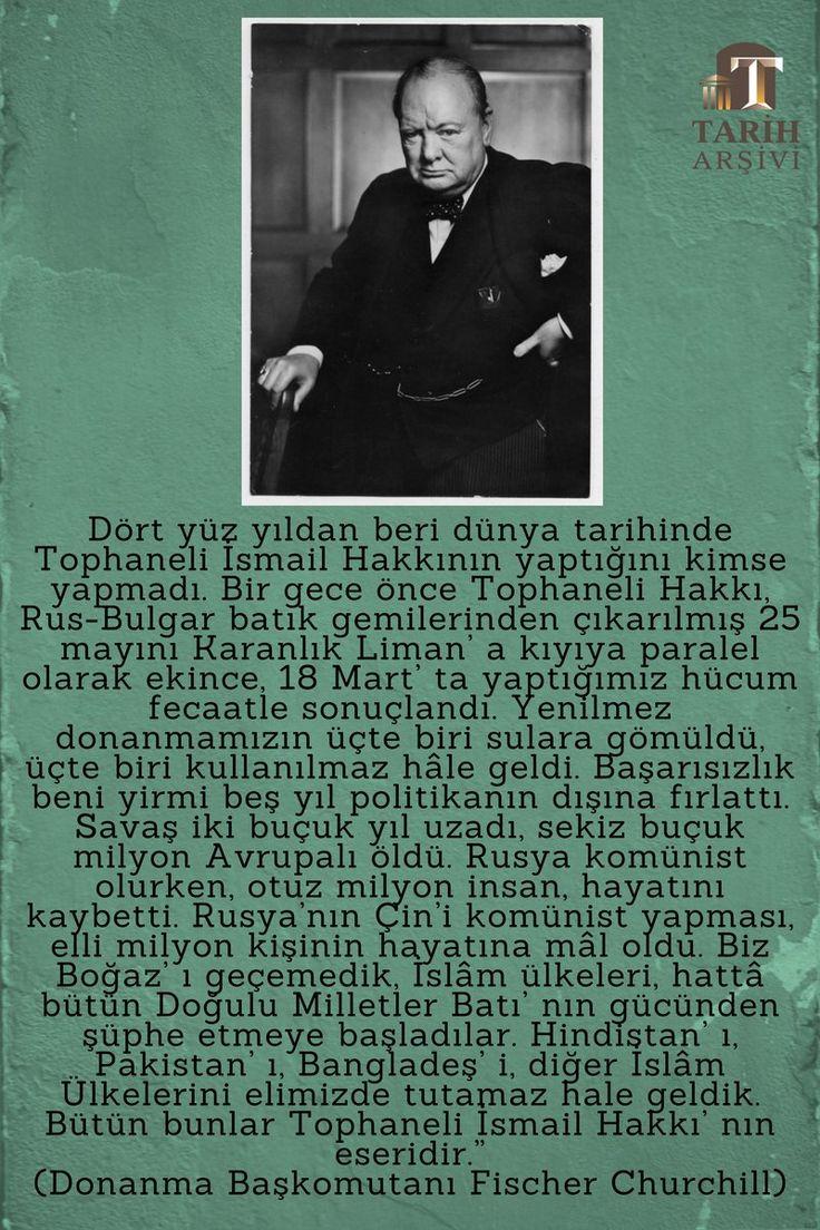 Dört yüzyıldan beri dünya tarihinde Tophaneli İsmail Hakkı'nın yaptığını kimse yapmadı. #18Mart #Çanakkale #OsmanlıDevleti