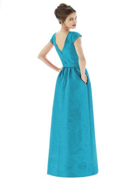 4e5e30cc048 Alfred Sung by Dessy D569 Long Cap Sleeve Bridesmaid Dress ...