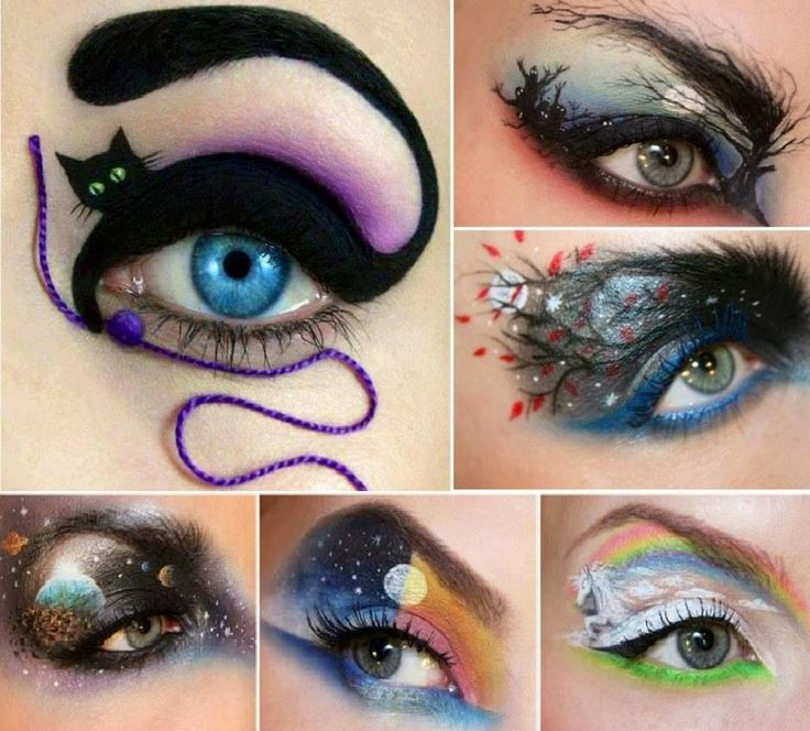 Cool eyeshadow designs Eye make up Pinterest The two - Cool Makeup Designs