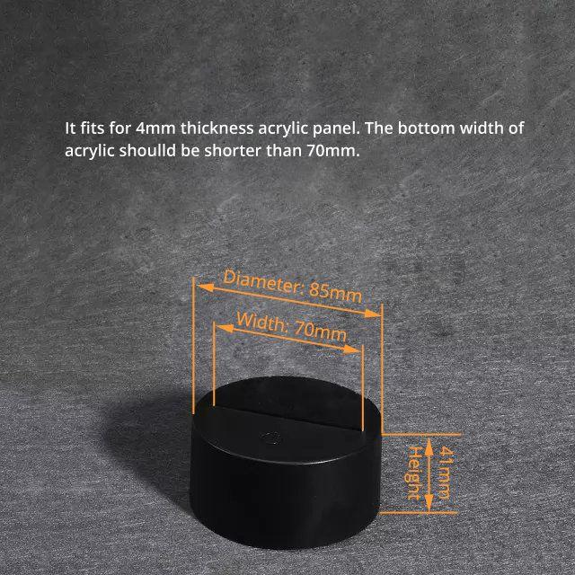 Led Base For Acrylic Panel Lamp Bases Acrylic Panels 3d Illusion Lamp