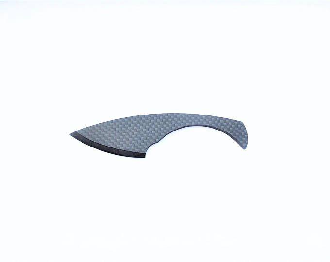 Bull SHARK 100 % fibre de carbone couteau brillant fini pleine fibre de carbone lame et le manche grand luxe cadeau Objet