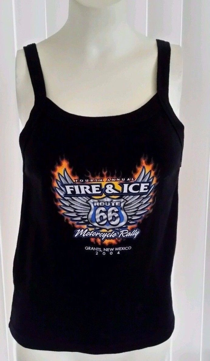 Route 66 fire & ice Biker 4th annual motorcycle rally M Tank Top. 172