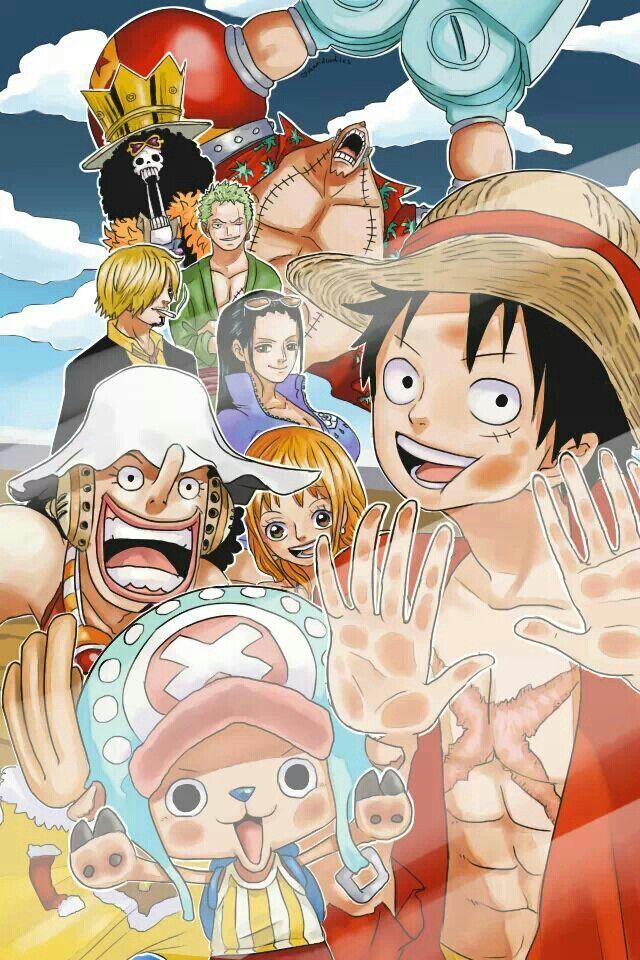 One Piece   Lockscreen   Mugiwaras   Straw Hat Crew   Monkey D Luffy   Roronoa…