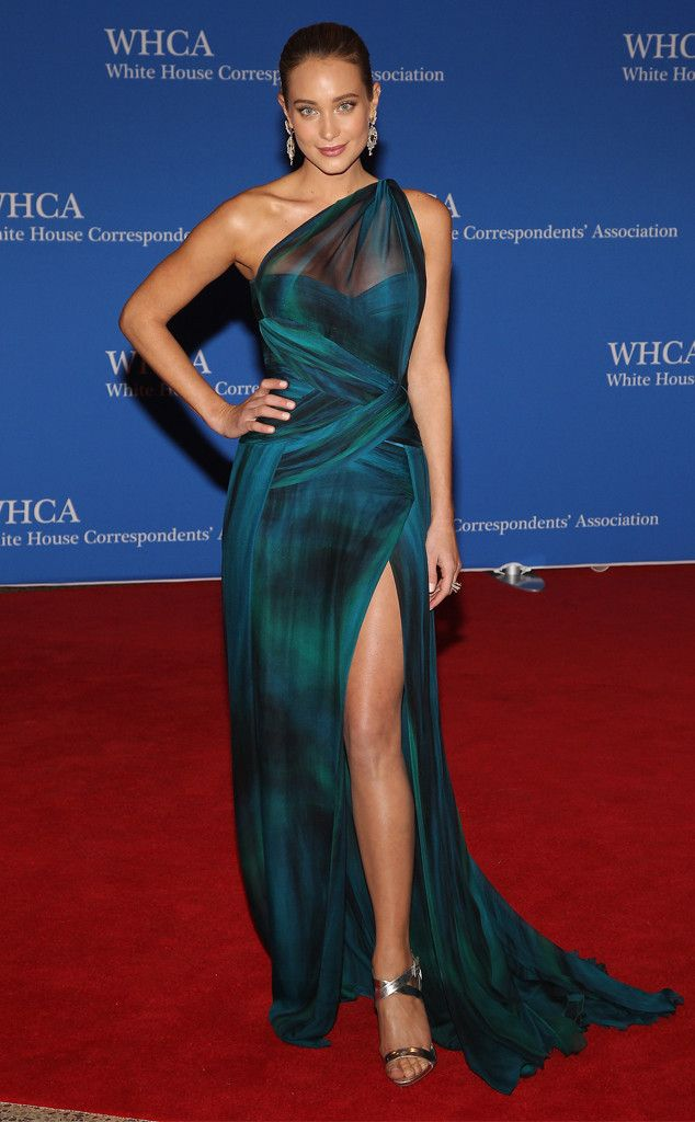Hannah Davis in Georges Chakra Couture gown at The White House Correspondents Dinner 2015