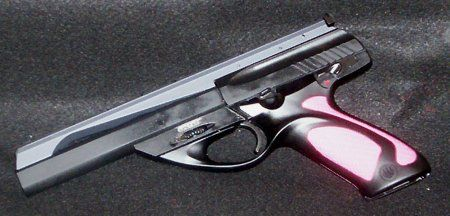 """Beretta U22 NEOS 22LR Pink Grip 6"""" if I had one , this is the one!!!"""