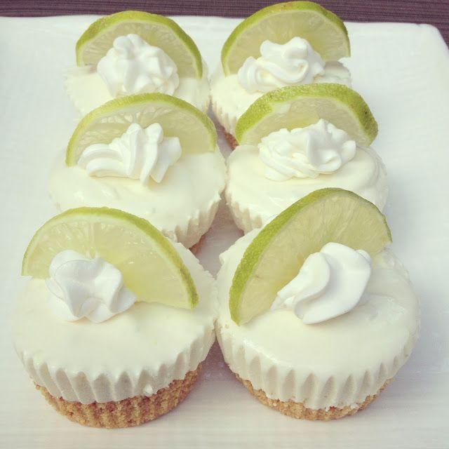 No Bake Mini Key Lime Cheesecakes