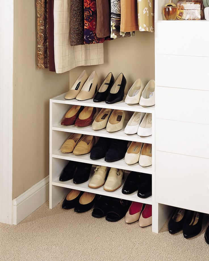 shoe storage ideas for the home shoe rack closet shoe rack closet organization. Black Bedroom Furniture Sets. Home Design Ideas