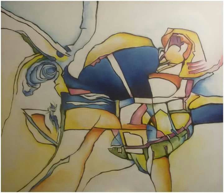 "Silvie Kreiselová ""Noc za oknem"" Acryl 70x60."