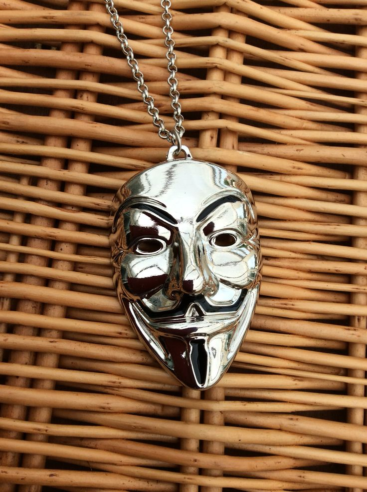 http://www.ebay.co.uk/itm/FREE-GIFT-BAG-Silver-V-for-Vendetta-Anonymous-Hacker-Mask-Necklace-Chain-Xmas-/152208145547 #vendetta #anonymous #hacker #vforvendetta #necklace #gift #present #xmas #birthday #silver
