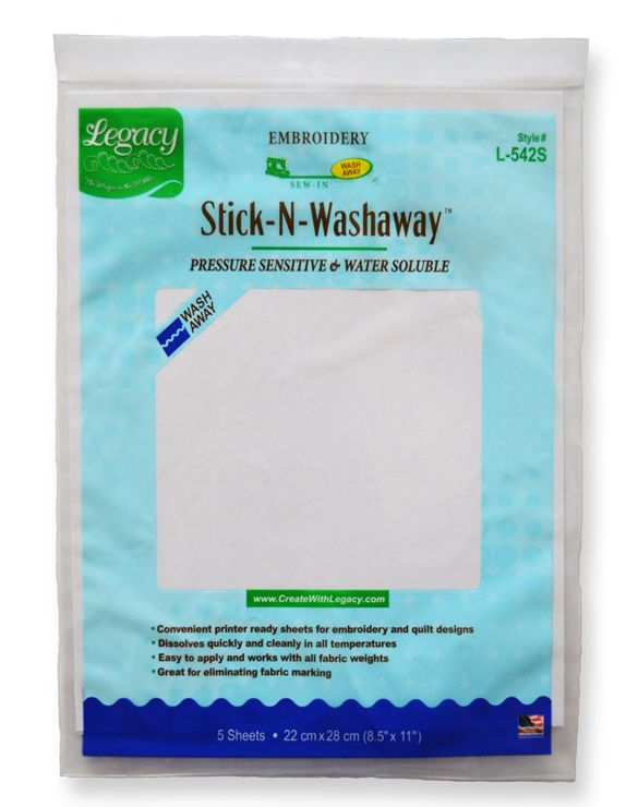 L-542S Stick-N-Washaway™ -- learn more at www.createwithlegacy.com @createwlegacy #legacyproducts