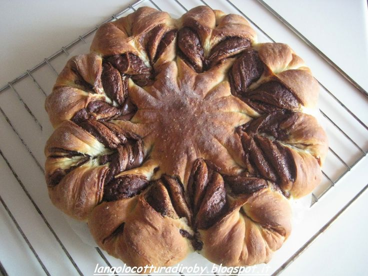 Fiore di pan brioche alla Nutella   Angolo cottura di Roby