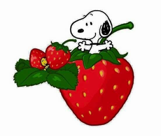 Snoopy and Woodstock strawberry