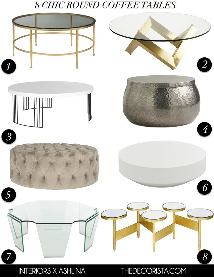 My Picks 8 Chic Round Coffee Tables