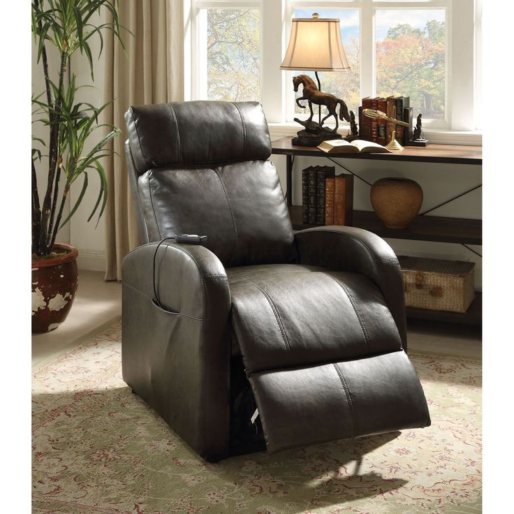 Ricardo Traditional Faux Leather Power Recliner (Grey) Size Standard (Foam) & Best 25+ Traditional recliner chairs ideas on Pinterest | Beach ... islam-shia.org