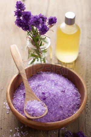 spa set with fresh lavender Stock Photo - 17665542