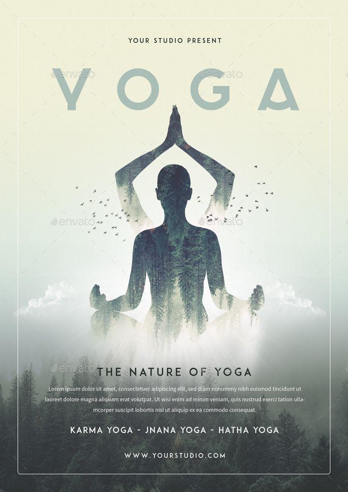 Yoga Bundle Set 1 Flyer Roll Banner Set Bundle Yoga Banner Yoga Flyer Yoga Poster Design Flyer