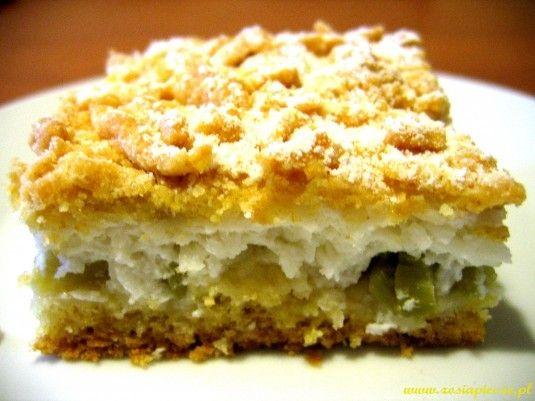 Zosia piecze - Ciasto z rabarbarem