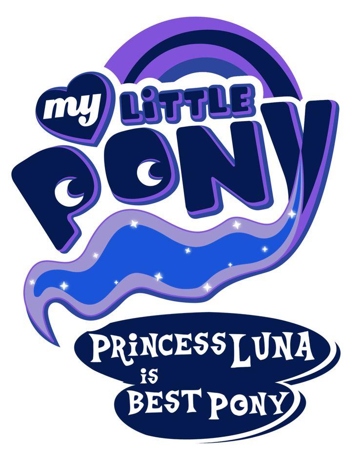Fanart - MLP. My Little Pony Logo - Princess Luna by jamescorck.deviantart.com Well, best princess