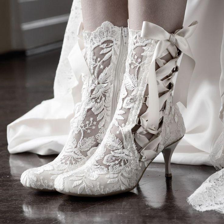 Damen Brautschuhe /Weiszlig;e Hochzeitsschuhe/Bequeme Strass High Heels/Pearl Silk Lace /Kristall Hochzeit Schuhe BrautGut...