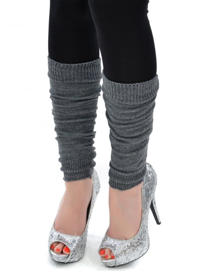 Grey Legwarmers | Hen Party Costume | Hen Party Superstore