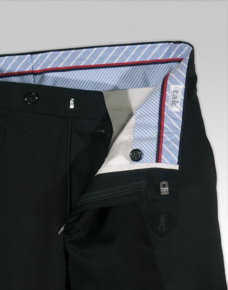 Pantalón Negro de Algodón - tak, Básico para hombre Gabardina de algodón 100% €79.00 #pantalones